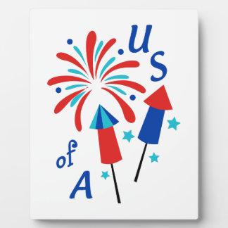 USA Fireworks Plaque