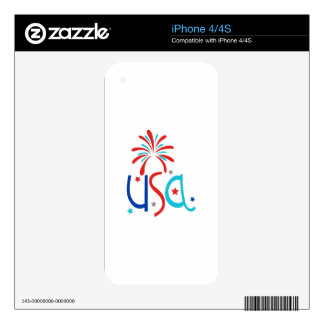 USA Fireworks Skins For The iPhone 4