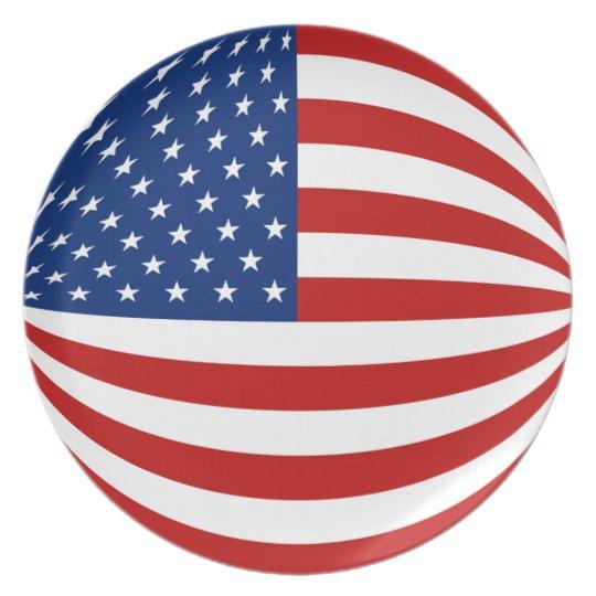 USA Fisheye Flag Plate
