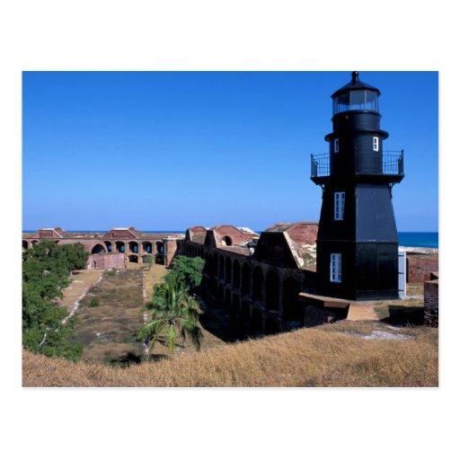 USA, FL, Florida Keys, Fort Jefferson, 1846, 2 Postcard