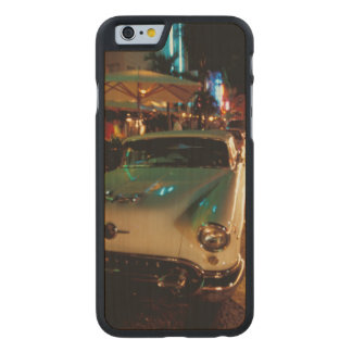 USA, FL, Miami, South Beach at night. 2 Carved Maple iPhone 6 Case