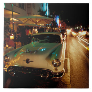 USA, FL, Miami, South Beach at night. 2 Ceramic Tile