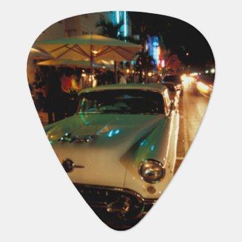 Usa  Fl  Miami  South Beach At Night. 2 Guitar Pick by DanitaDelimont at Zazzle