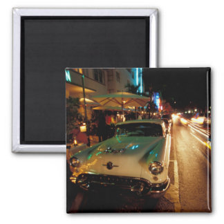 USA, FL, Miami, South Beach at night. 2 Fridge Magnet