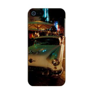 USA, FL, Miami, South Beach at night. 2 Metallic Phone Case For iPhone SE/5/5s