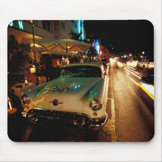 USA, FL, Miami, South Beach at night. 2 Mouse Pad