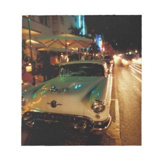 USA, FL, Miami, South Beach at night. 2 Notepad