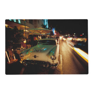 USA, FL, Miami, South Beach at night. 2 Placemat