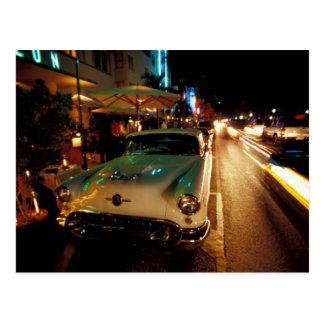USA, FL, Miami, South Beach at night. 2 Postcard