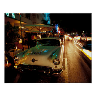 USA, FL, Miami, South Beach at night. 2 Poster