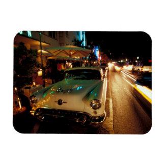 USA, FL, Miami, South Beach at night. 2 Rectangle Magnet