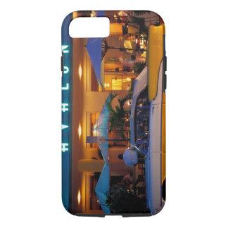 USA, FL, Miami, South Beach at night. iPhone 7 Case