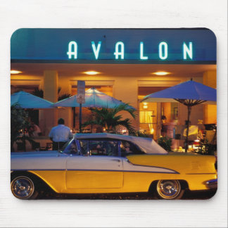 USA, FL, Miami, South Beach at night. Mouse Pads