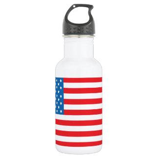 USA Flag1 Water Bottle