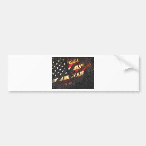 usa flag2 bumper stickers