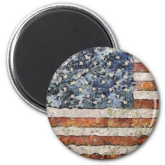 USA Flag 2 Inch Round Magnet