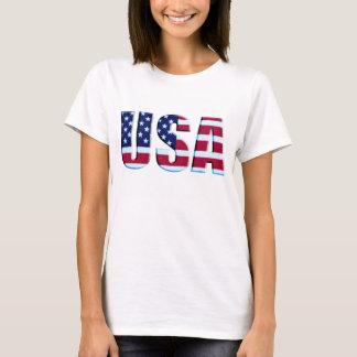USA Flag 3D Letters T-Shirt