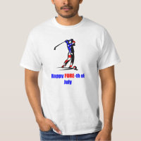 USA Flag 4th of July Golf T-Shirt