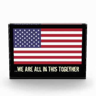 USA Flag All In This Together Desktop Sculpture Award