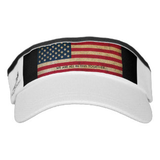USA Flag All In This Together Performance Visor