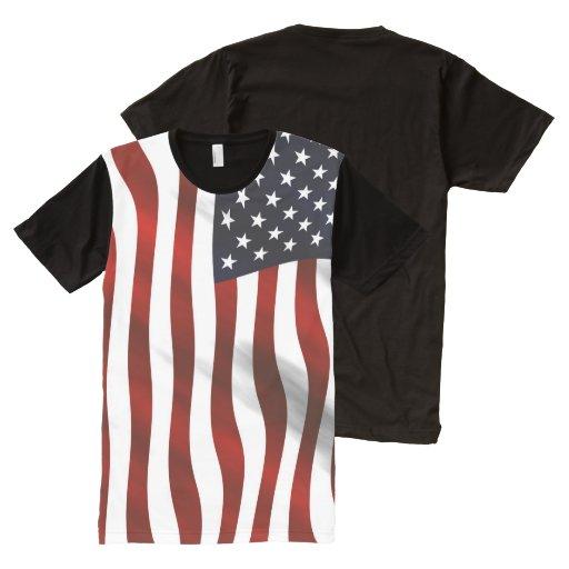 Usa flag all over print t shirt zazzle for Vista print tee shirt