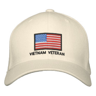 USA Flag - America - Vietnam Veteran Embroidered Baseball Cap