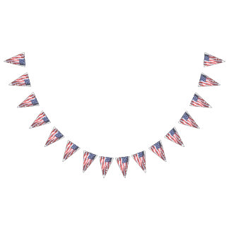 USA Flag American FLAg party banner bunting