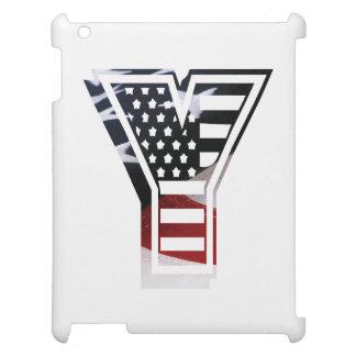 USA Flag American Initial Monogram Y iPad Case