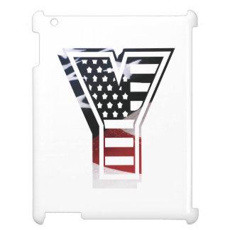 USA Flag American Initial Monogram Y iPad Covers