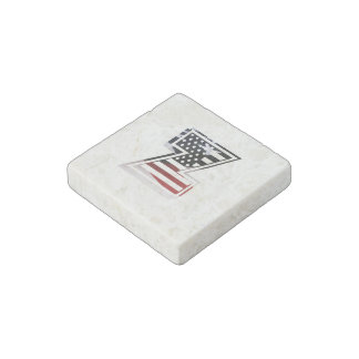 USA Flag American Initial Monogram Z Stone Magnet