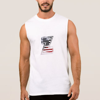 USA Flag American Initial Monogram Z Sleeveless T-shirts