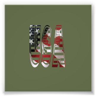 USA Flag American Logo Photo Print