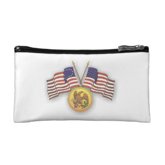 USA Flag & American Medal for US Independence Day Cosmetic Bags