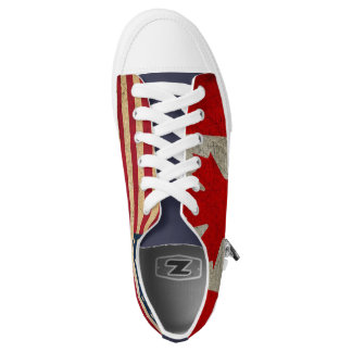 USA Flag and Canadian Flag Custom Trainers Low-Top Sneakers