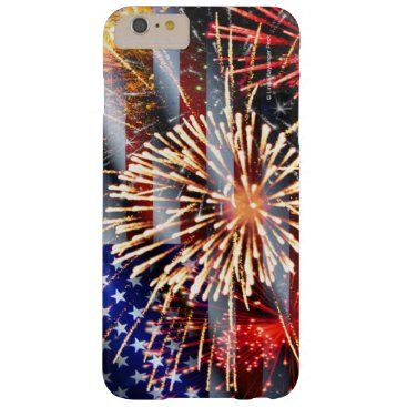linda_mn USA Flag and Fireworks Barely There iPhone 6 Plus Case