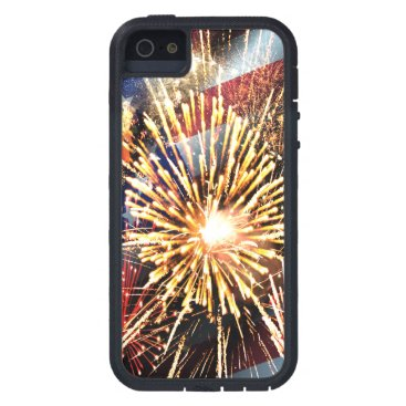 linda_mn USA Flag and Fireworks Case For iPhone SE/5/5s