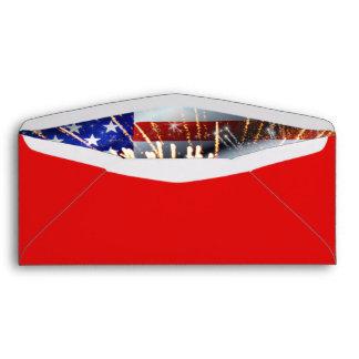USA Flag and Fireworks Envelope