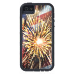 USA Flag and Fireworks iPhone 5 Case