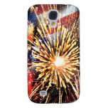USA Flag and Fireworks Samsung Galaxy S4 Covers