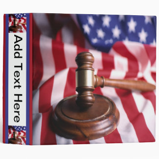 USA Flag and Gavel Avery Binder