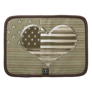 USA Flag and Heart Design Planner