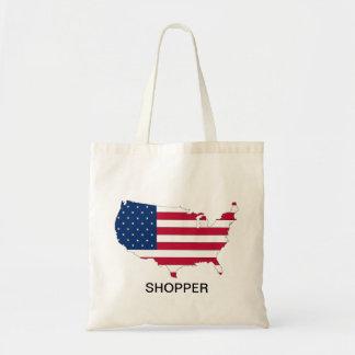 USA Flag and Map design Tote Bag
