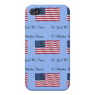 USA Flag and Motto Case For iPhone 4