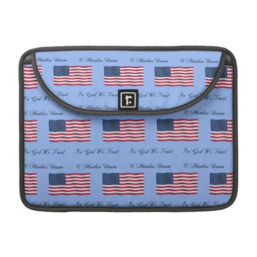 USA Flag and Motto Sleeves For MacBooks