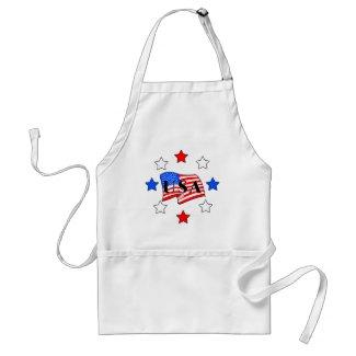USA Flag and Stars aprons