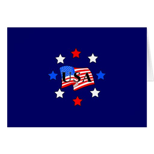 Usa flag and stars stationery note card zazzle