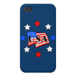 USA Flag and Stars iPhone 4/4S Case