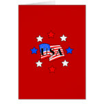 USA Flag and Stars Stationery Note Card