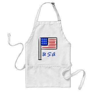 USA Flag apron