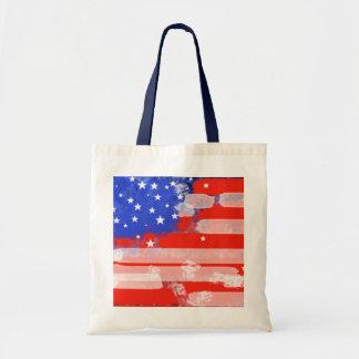USA flag Tote Bags